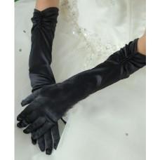 Перчатки  черные  40см №639.165