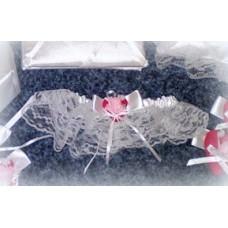 Подвязка белая с красным SvetikFantasy №708.263