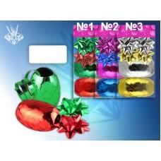 Набор для декорирования подарков В наборе: 4 банта, 2 ленты (ширина - 5мм., длина - 10м) №1111.20