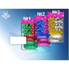Набор для декорирования подарков В наборе: 4 банта, 2 ленты (ширина - 5мм., длина - 10м) №1112.26