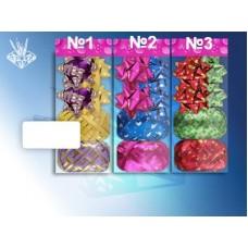 Набор для декорирования подарков В наборе: 4 банта, 2 ленты (ширина - 5мм., длина - 10м) №1114.26