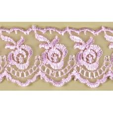 Кружево капроновое розовое  размер: 4см №1251.113 (Цена за 1 метр)