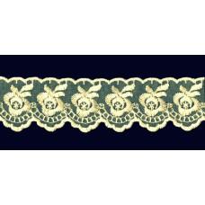 Кружево капроновое айвори размер: 4см, (Цена за 1 метр)