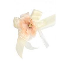 Браслет-Цветочек персиковый (12 см)  №1426.20