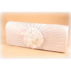 Сумка - клатч из атласа.  Размер: см Цвет: белый №1379.520
