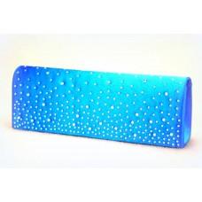 Сумка - клатч из атласа.  Размер: 26,3х9,5 см Цвет: голубой №1571.515