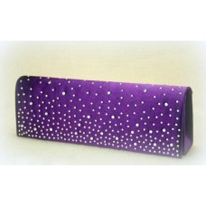 Сумка - клатч из атласа.  Размер: 26,3х9,5 см Цвет: фиолетовый №1572.515