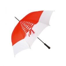 Зонт-трость полуавтоматический со шнуровкой Цвет: красный/белый Размер: d1000x830 мм №1180.521