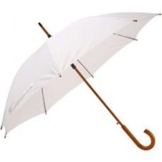 Зонт-трость с деревянной ручкой, белый механический L=90см, D=105см №1182.320