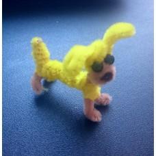 Брелок собачка желтая