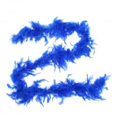 Карнавальный шарф-перо синий