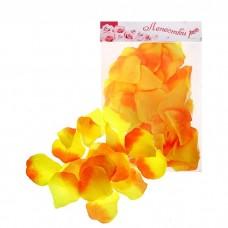 Лепестки роз  цвет жёлто-оранжевый тканевые