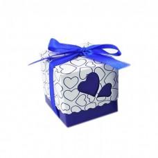 Коробочка сборная Сердца синяя