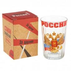 """Стакан граненый """"Россия"""", герб и триколор"""
