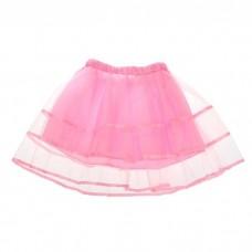 Карнавальная юбка 2-х слойная, розовая