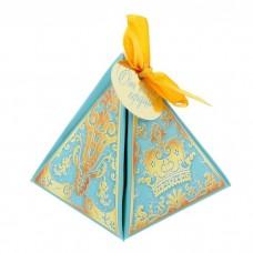 "Коробка пирамидка ""Роскошь голубого"""