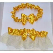 Комплект из двух подвязок золото SvetikFantasy (отделка может отличаться) №5411.365
