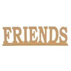 Деревянная надпись *FRIENDS* на подставке 35x4x10,5см №5222.180