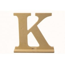 Деревянная буква *К* 15,5x4x15см №5256.120