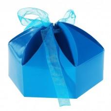 """Коробка сборная """"Мешочек счастья"""" синий 10,0 х 10,0 х 7,0 см №5349.30"""