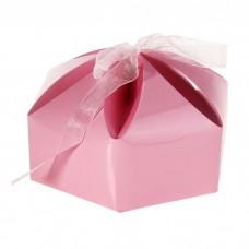 """Коробка сборная """"Мешочек счастья"""" розовый 10,0 х 10,0 х 7,0 см №5350.30"""