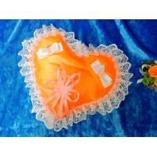 Подушечка для колец Сердце, оранжевая 22см №5070.120
