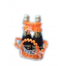 Корзиночка для бутылок Цвет: оранжевая №5079.250