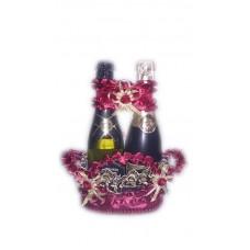 Корзиночка для бутылок Цвет: бордо №5080.250