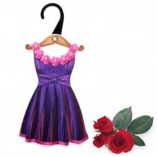 """Арома-саше фигурное на вешалке """"Платье """" аромат дикой розы №5093.50"""