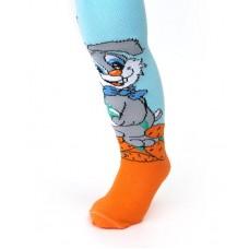 """Колготки """"Заяц"""", цвета: мятный, сиреневый, голубой,  светло/голубой , бежевый размеры: 74-80см №5017.135"""