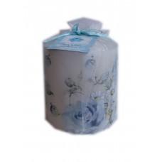 """Свеча-столбик """"Ситцевые цветочки"""" , 8,8 х 6,5 см №5055.240"""