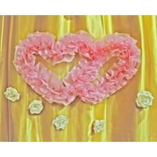 Два сердца для украшения квартиры, зала, стен, штор цвет: розовый №4860.115