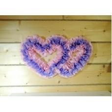 Два сердца для украшения квартиры, зала, стен, штор цвет: сиреневый с розовым №4862.115