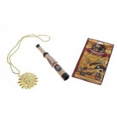 Набор пирата: медальон подзорная труба, пластик Размер упаковки: 2х12,5х20,5см №4789.46