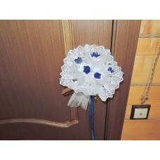 Букет Бело-синий (ткань) N4844.200