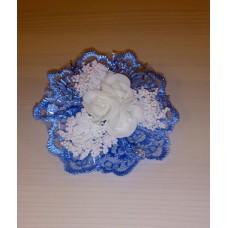 Цветочек-браслет голубой 8см №4849.60