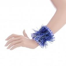 Карнавальный браслет синий с белыми кончиками 8 х 22 см N4620.16
