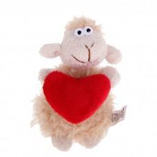 """Мягкая игрушка-подвеска """"Барашек с сердечком"""", 11см, цвета в ассортименте №4623.89"""