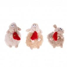 """Мягкая игрушка-подвеска """"Барашек с сердечком"""", 12см, цвета в ассортименте, 1шт №4624.97"""