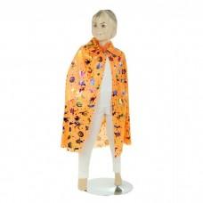 "Карнавальная накидка ""Хэллоуин"" двойная оранжевая 75см №4629.188"