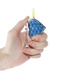 """Зажигалка дамская """"Сердечко"""" пьезо, газ, 5 х 4 см, цвета в ассортименте  №4649.75"""