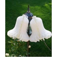 Колокольчик-подвеска, белый, набор 2 штуки, 23 см, цвет: белый №4457.75