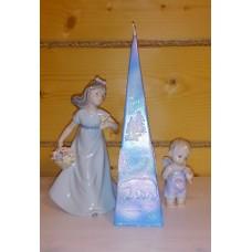 Свеча пирамида Белый Медведь 6,0 х 22,8 см, голубая  №4463.195
