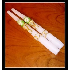 Набор свечей Свадебный букет ,2штуки, 2,3х25 см, время горения 8 ч №4472.116