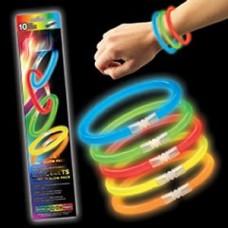 Набор браслетов, 10 штук, световые неоновые палочки, 20см №4474.90