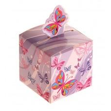 Коробка сборная 5,1 х 5,1 х 5,5 см бабочки порхающие №4491.65