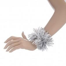 Карнавальный браслет серебро 8 х 22 см №4501.16