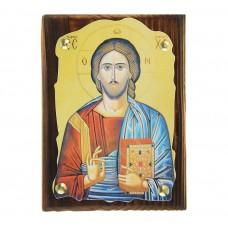 """Икона """"Господь Вседержитель"""" на подвесе, 1,5 х 10,5 х 14,5 см №4508.60"""