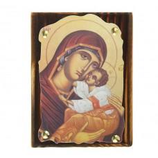 """Икона """"Матерь Божья"""" на подвесе, 1,5 х 10,5 х 14,5 см №4510.60"""