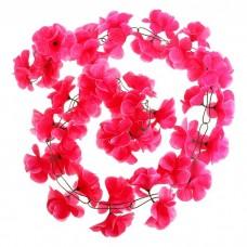 """Гирлянда """"Гибискус"""" розовая коралловая, цветок искусственный, длина 2 метра №4518.130"""